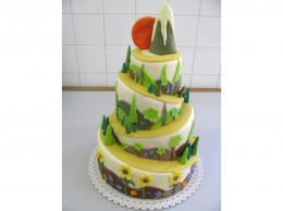 svatební dort cesta