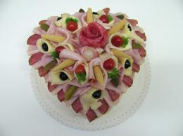 slaný dort srdce