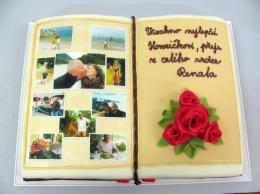 velká kniha s jedlou fotografií