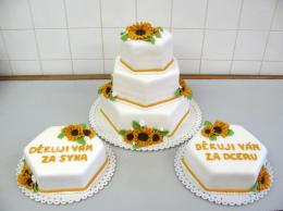 dort šestihran s děkovacímí dorty