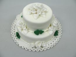 smaragdová svatba dort