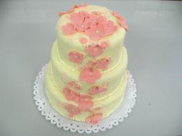 květinky na dortu