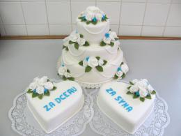 děkovací a svatební dort