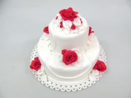 dvoupatrový dort svatební