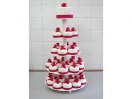 svatební dort - mini cakes / cupcakes