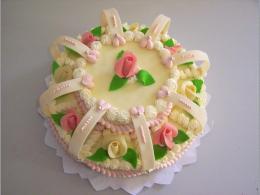 svatební dort s obloučky