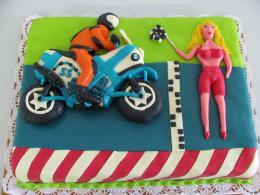 závodník na motorce