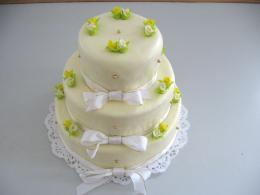 dort patrový žluté růže