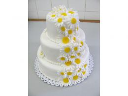 svatební dort sedmikrásky