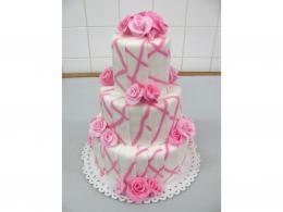 patrový dort s růžemi