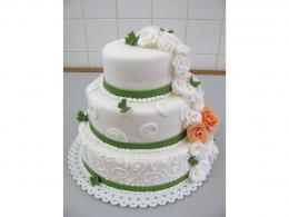 elegantní svatební dort