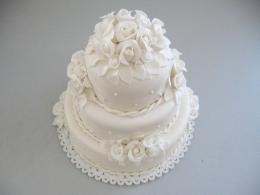 dort bílý s růžemi
