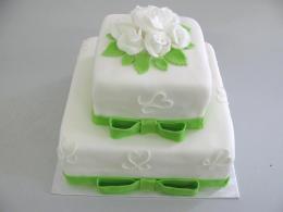 svatební dort čtverce
