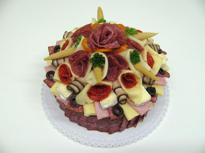 slaný dort malý 1,5 kg