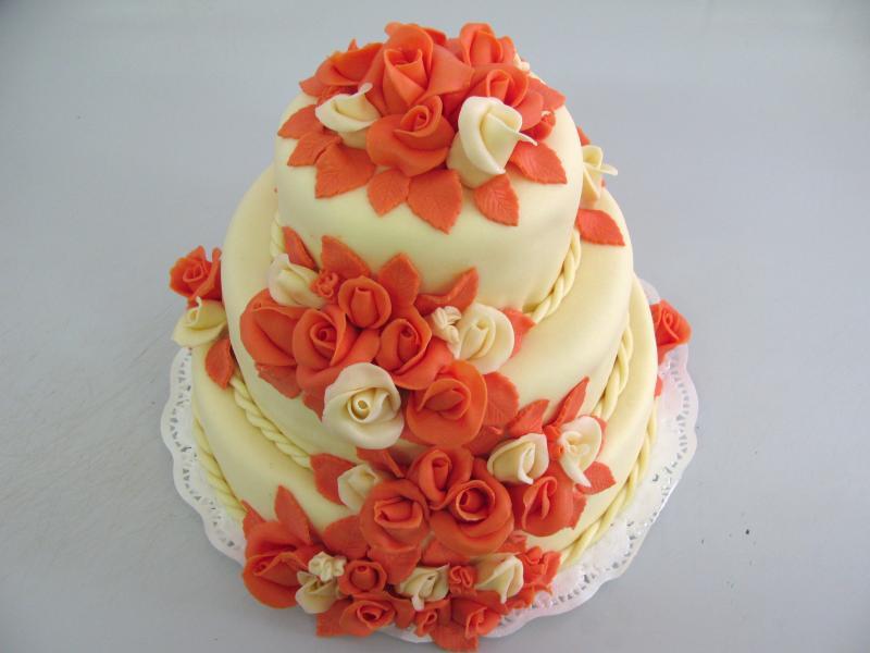 dort oranžové růže
