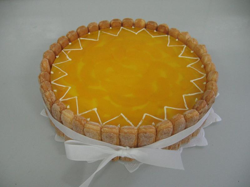 ovocný dort mandarinka broskev