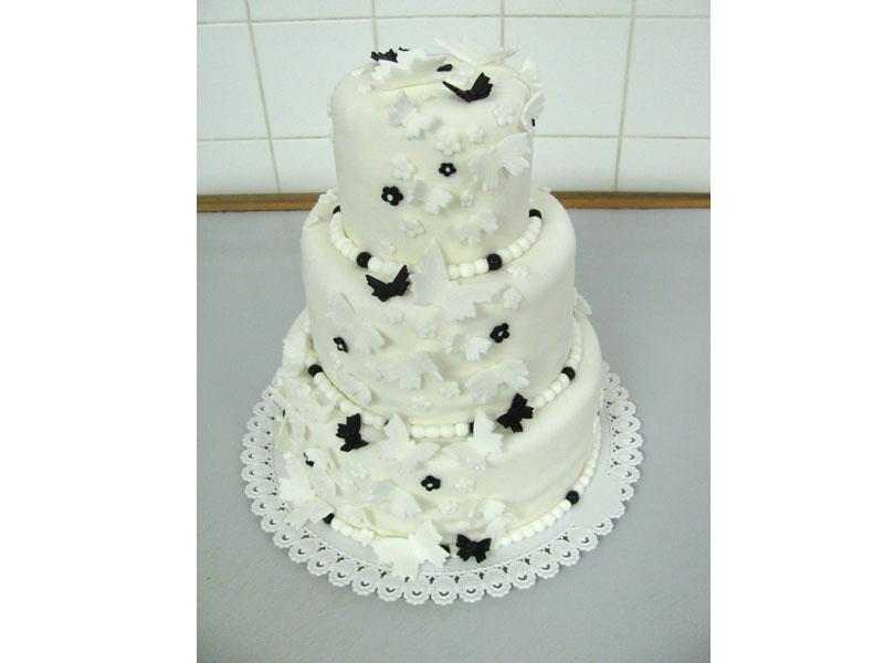 černobílý dort