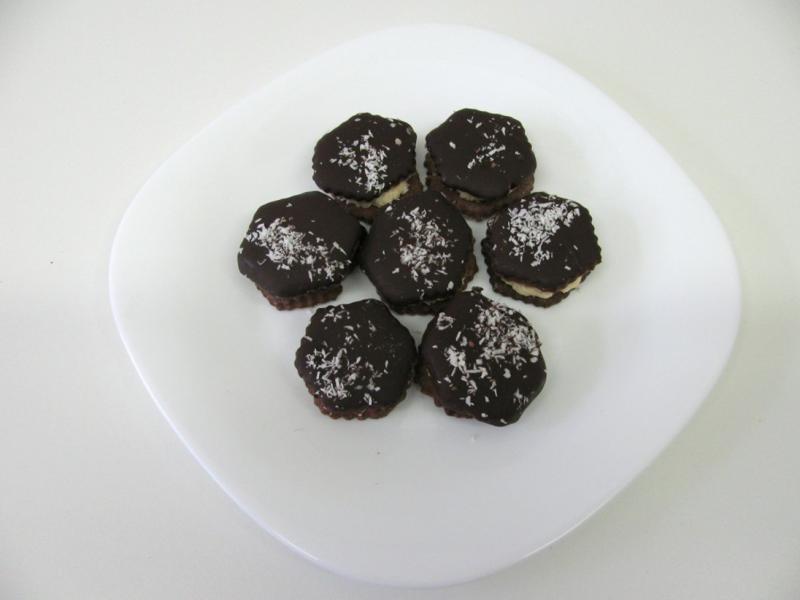 kokosové šestihránky krémové