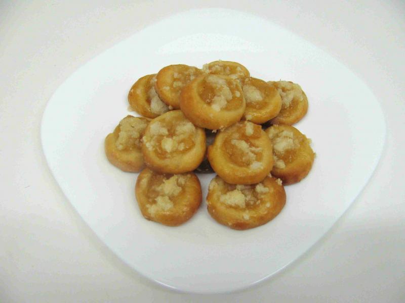 jablečné koláčky otevřené 4,5 cm