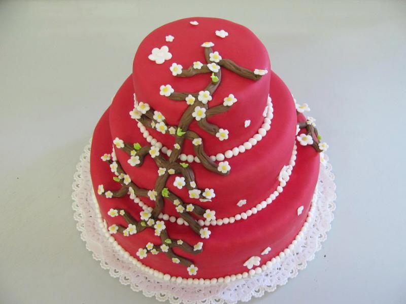 červený dort