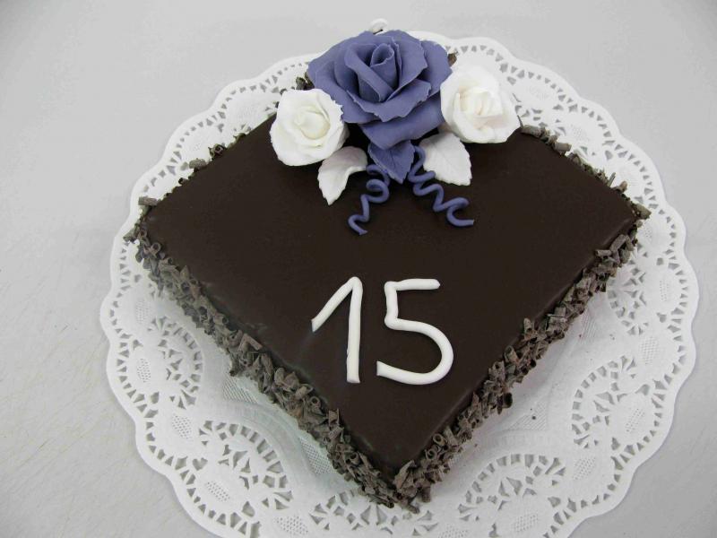 čokoládový dort čtverec