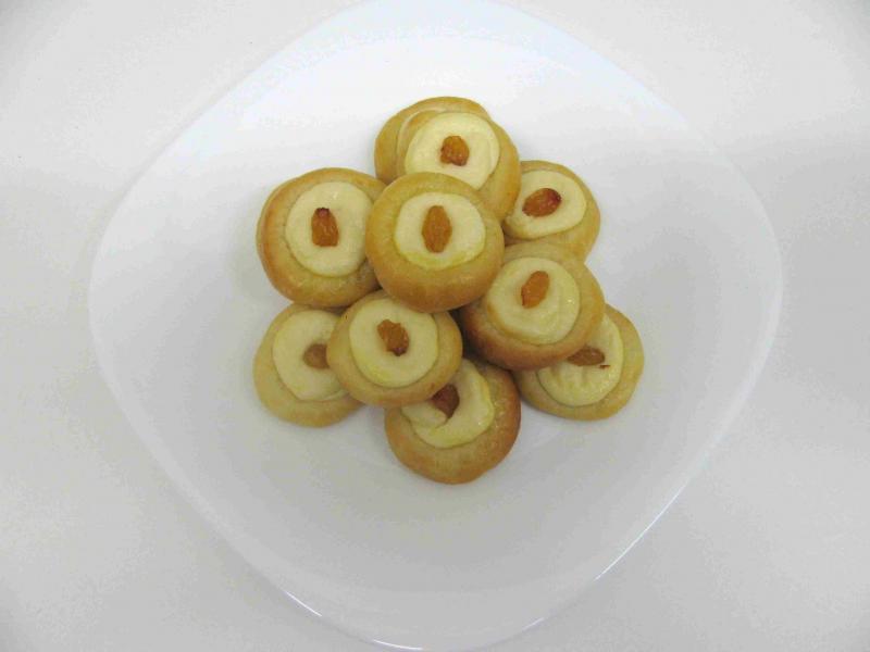 tvarohové koláčky otevřené 4,5 cm