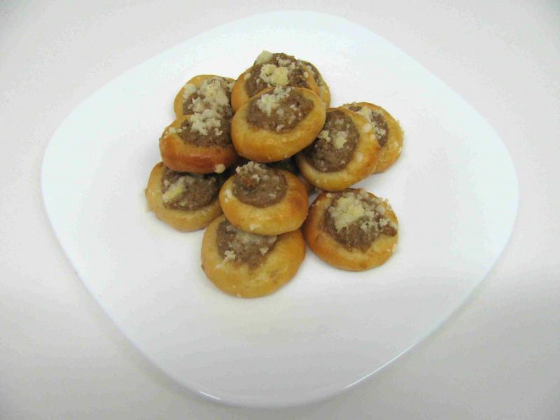 ořechové koláčky otevřené 4,5 cm