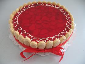 ovocný dort tvarohový jahodový